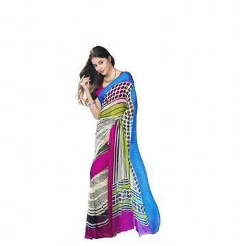 beautiful crepe saree