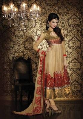 Tussar Net Suit with Dupatta TBKRMA1011