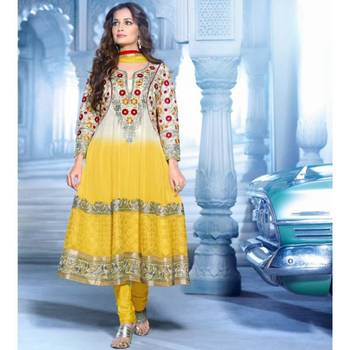 Tantalizing Off White & Yellow Salwar Kameez-TBSUMOHN8008