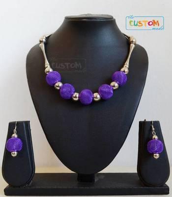 purple necklace set