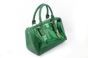 GREEN  PU+TRANSPARENT Textured transparent Satchel bag  - By Dealtz Fashion