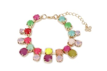 MULTI  METAL Neon Colour Multi Shape Stone Bracelet - By Dealtz Fashion
