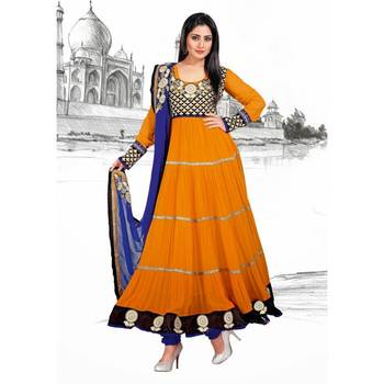 Faux Georgette Salwar Kameez with Dupatta - TBAMB211