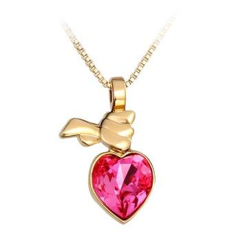 Dealtz Fashion Elements 18k Gold Plated Heart Pendant Locket