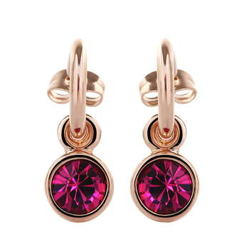 Dealtz Fashion Elements 18k Gold Plated Classy Purple Earrings