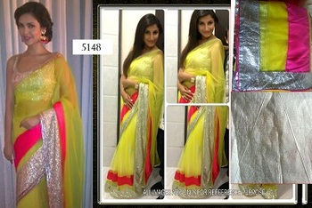 net with inner saree with blouse