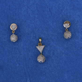 Radient Diamond Pendant Set
