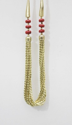 Traditional Gold Necklace & Red Beads