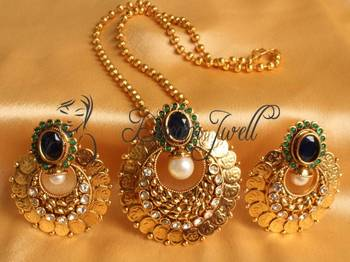 GORGEOUS ANTIQUE ROYAL COIN BALI NECKLACE SET