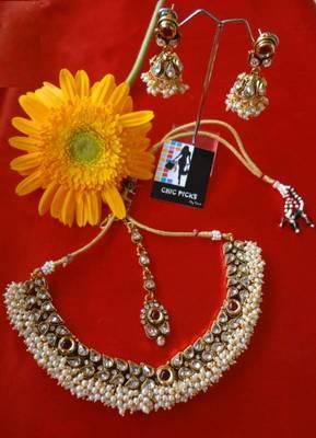 Royal Kundan Necklace set - Ruby