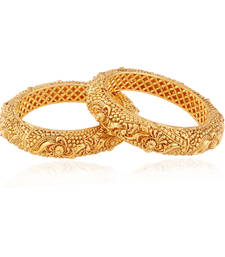 Buy Fantastic gold plated american diamond bangle bangles-and-bracelet online