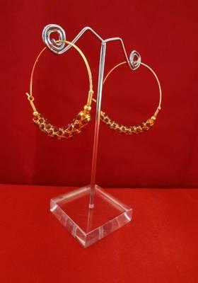 Chic Ruby Hoop Earrings