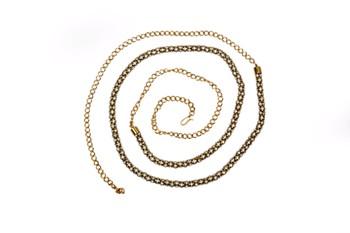 gold plated waistbelt,kamarband,kardhani studded with full white stones