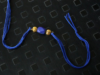Blue And Gold Rakhi