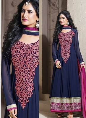Full length long emb. Anarkali suit