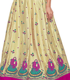 Buy Golden satin block pink border skirt maxi-skirt online