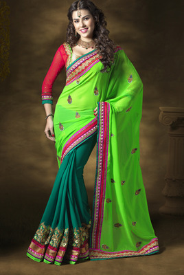 Designer Moss Georgette Saree Jiya-2401