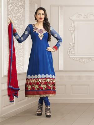Karishma Kapoor Style Blue Salwar Suit -SUVIN965
