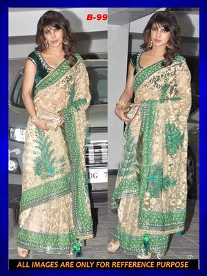 Bollywood  Replica Priyanka chopra net saree