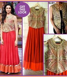 Buy Bollywood replica Deepika padukone gown with over coat. dress online