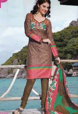 Dress material cotton designer prints unstitched salwar kameez suit d.no PA10046