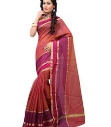 Buy Brown  woven cotton saree With Blouse cotton-saree online