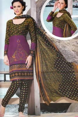 Dress material cotton designer prints unstitched salwar kameez suit d.no PA10051