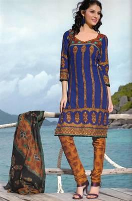 Dress material cotton designer prints unstitched salwar kameez suit d.no PA10054
