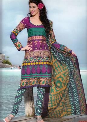 Dress material cotton designer prints unstitched salwar kameez suit d.no PA10063