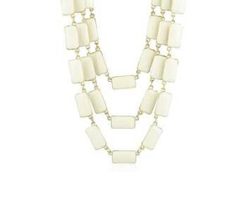 Geometric Enamel Chains Necklace