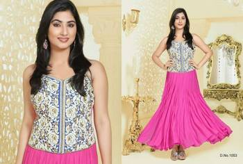 Kumud Semi Stitched Anarkali With Elegant Embroidery all Over