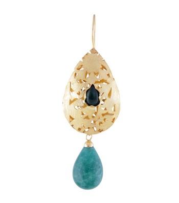 Green Treasure - Golden Earrings