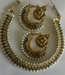 Buy Designer Ram Leela Earings with Traditional Necklace Necklace online