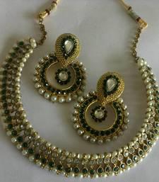 Buy Designer Fancy Earings with Traditional Necklace hoop online