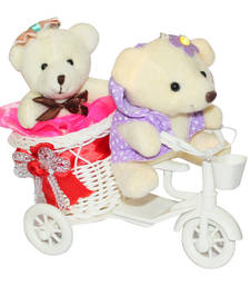 Buy Cute red scooter with couple teddybear valentine gift set gifts-for-girlfriend online