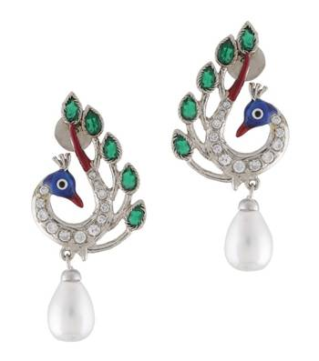 Pleasant Peacock Pearl Earrings