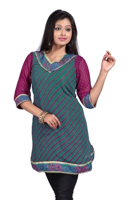Triveni V-neck Designed Office Wear Georgette  1090