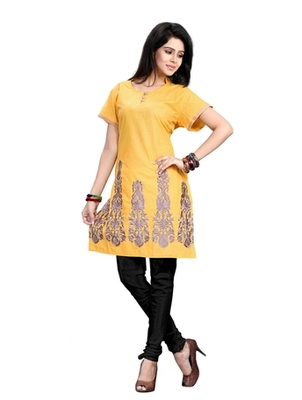 Triveni Classy Floral Embroidered Casual Cotton Kurti 254A