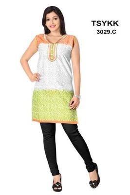 Triveni Tri-shaded fancy cotton printed Kurti 3029c