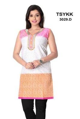Triveni Tri-shaded fancy cotton printed Kurti 3029d