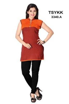 Triveni Fancy waist length cotton printed Kurti 3340a