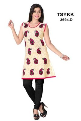 Triveni Fancy paisley motif printed cotton Kurti 3694d