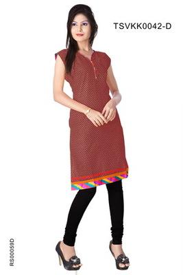 Triveni Fancy Casual Wear  Summer Cotton Kurti 0042d
