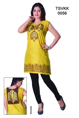 Triveni Fancy Casual Wear  Summer Cotton Kurti 0056