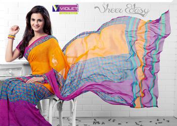 Monica Bedi In Printed Saree