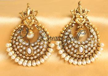 Awesome Antique Pearl Ganesha Earrings