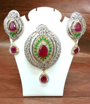 Craftstages Rhombus Emerald & Ruby P Set