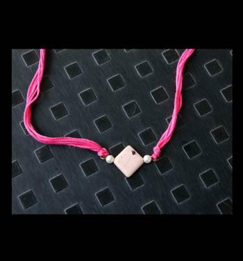 Pink Pearls Rakhi