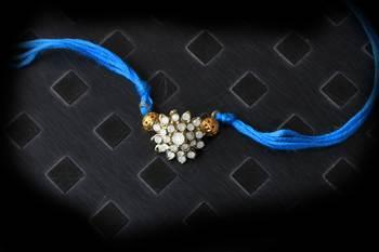 Blue Crystal Rakhi