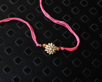 Pink Crystal Rakhi